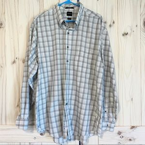 Arrow Lng Sleeve Button Up XL 17-17.5 Wrinkle Free